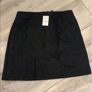 NWT J. Crew Ruffle Front Mini Skirt